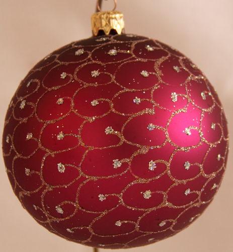 Weihnachtskugeln christbaumkugeln aus glas online kaufen for Pinke weihnachtskugeln