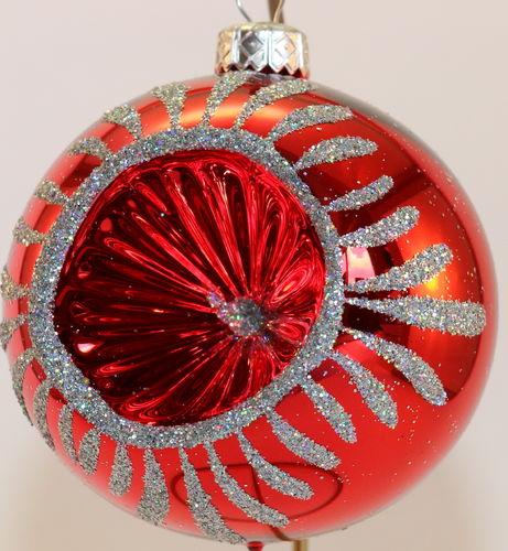 weisse glitzer weihnachtskugeln