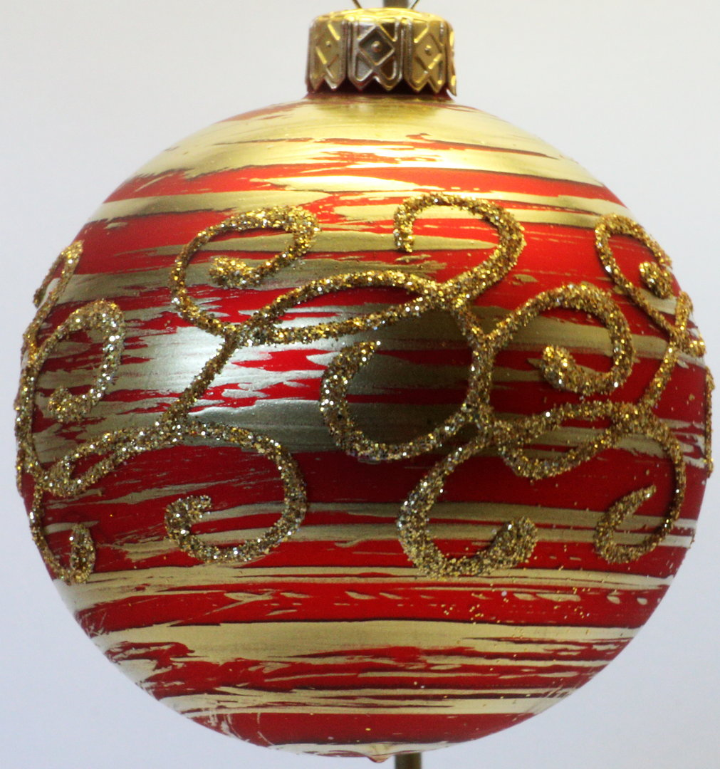 matte rot goldene weihnachtskugeln 5er set 6 cm aus glas ebay. Black Bedroom Furniture Sets. Home Design Ideas