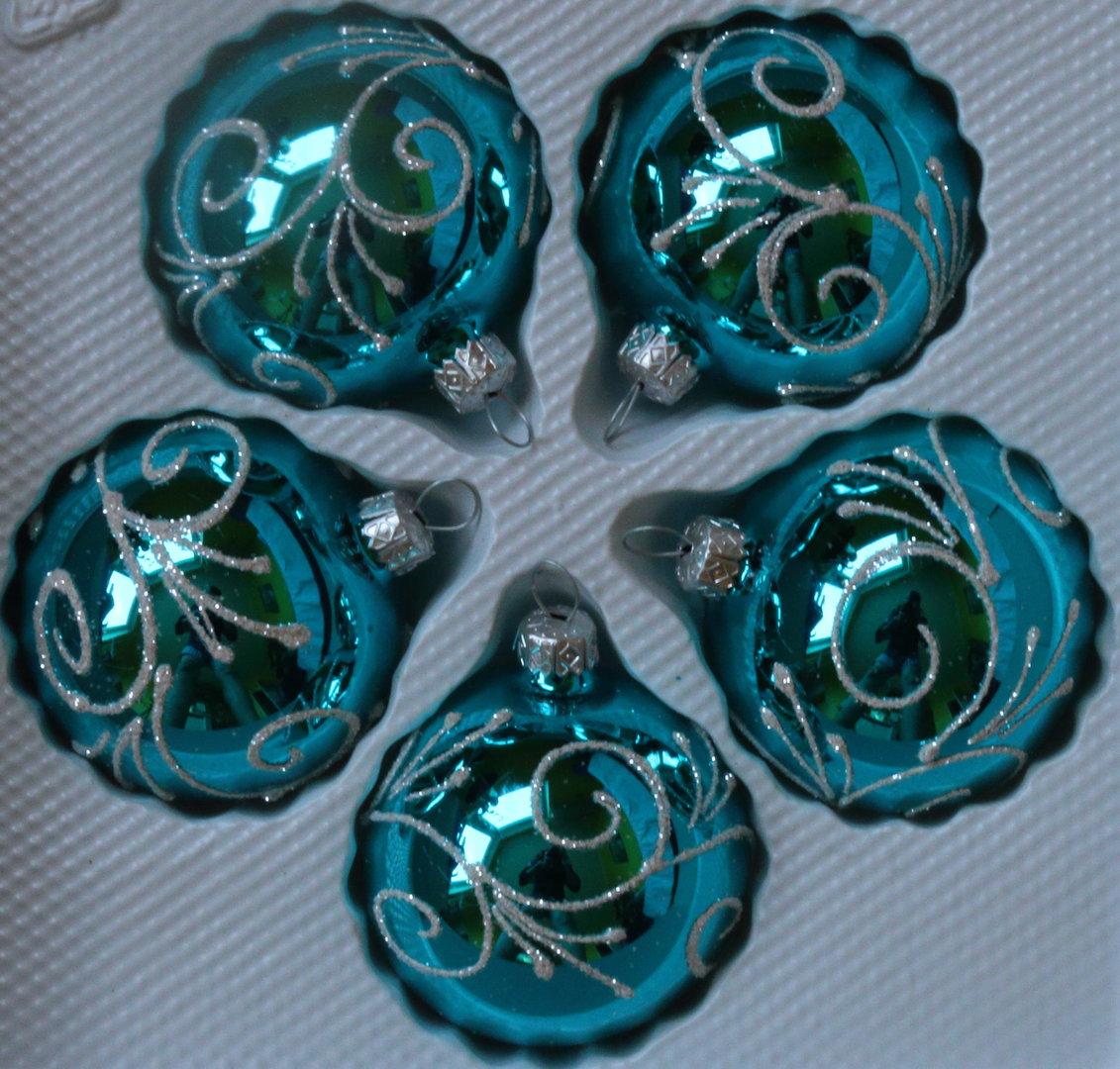 T rkise weihnachtskugeln my blog - Christbaumkugeln eisblau ...