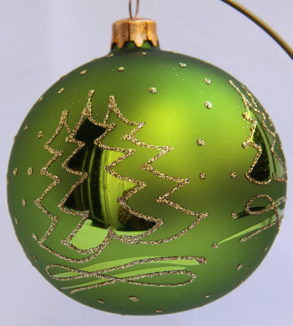 gr u00fcne weihnachtskugeln aus glas 4er set online kaufen