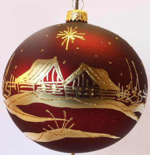 Weihnachtskugeln Rot Gold.Matte Dunkel Rote Weihnachtskugeln Aus Glas