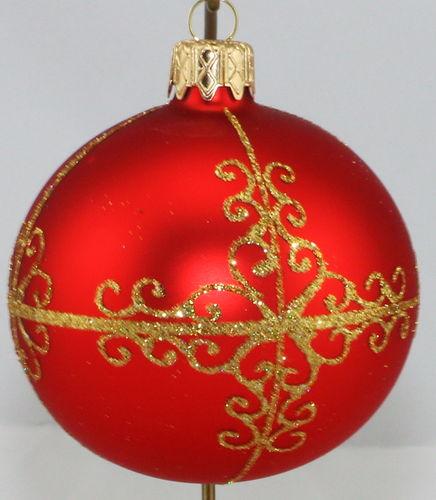 matte rote weihnachtskugeln aus glas 4er set 8 cm ebay. Black Bedroom Furniture Sets. Home Design Ideas