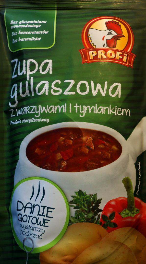 profi gulaschsuppe mit gem se und thymian zupa gulaszowa 450 g 5901696001812 ebay. Black Bedroom Furniture Sets. Home Design Ideas