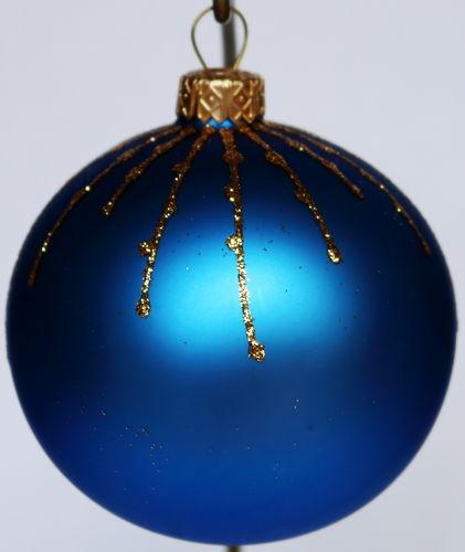 Christbaumkugeln blau weib